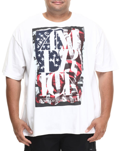 Rocawear White Home Of The Hustler Tee (Big & Tall)
