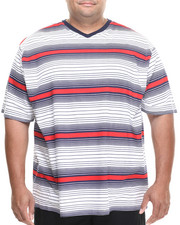 Shirts - Stripe V-Neck Tee (B&T)