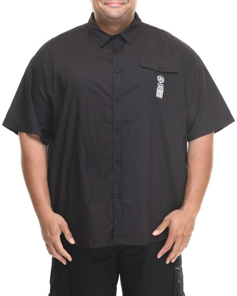 Rocawear Black Rw Fields S/S Button-Down (Big & Tall)