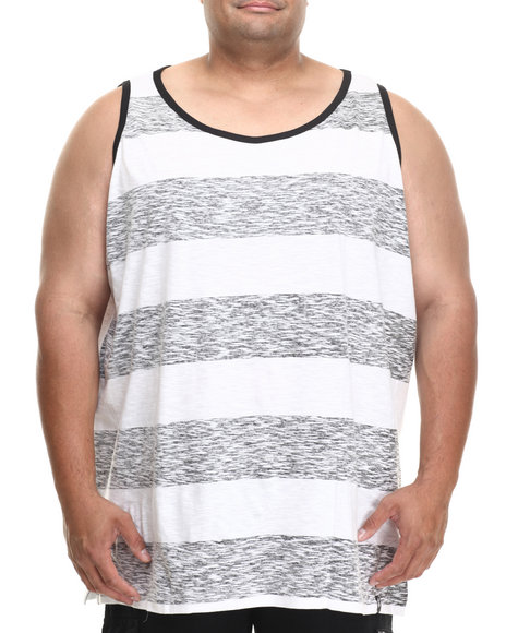 Rocawear Grey Scratch Tripe Tank Top (Big & Tall)