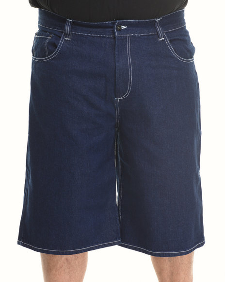 Rocawear - Men Blue R Flap Denim Shorts (B & T)