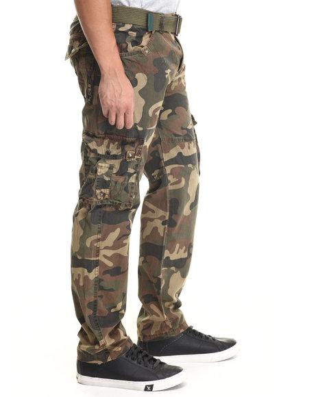 Basic Essentials - Men Camo Jetlag Cargo Pants