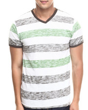 Shirts - Reverse Slub Striped Tee