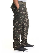 Basic Essentials - Cargo Pocket Pants with Belt