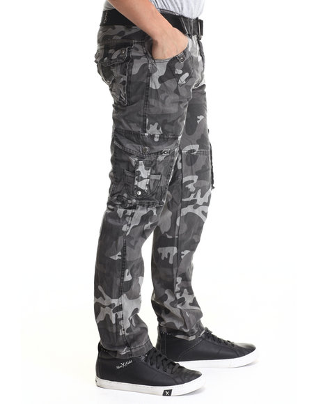 Basic Essentials - Men Camo Jetlag Cargo Pants