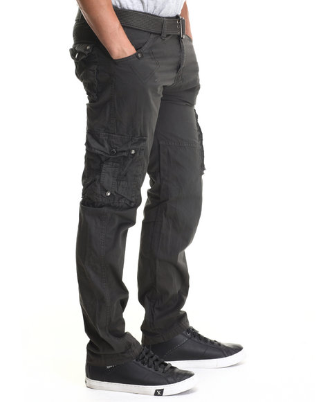 Basic Essentials - Men Charcoal Jetlag Cargo Pants
