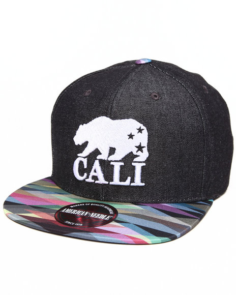 American Needle Men California Bear Geo Tag Strapback Hat Multi