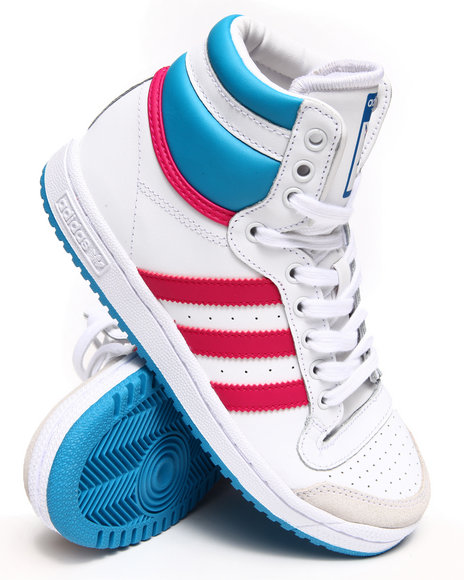 Adidas - Girls White Top Ten Hi J Sneakers (3.5-7)