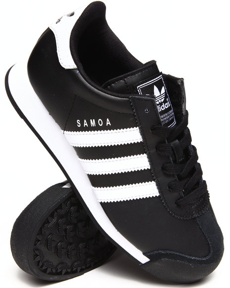 Adidas - Boys Black,White Samoa J Sneakers