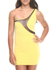 Women - One Shoulder Colorblock Dress
