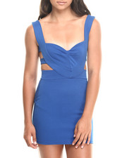 Women - Cutout Sweetheart Neckline Fitted Dress