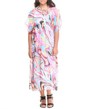 Women - Sheer Large Floral Maxi Dress