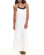 Women - Knitted Halter Maxi Dress