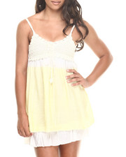 Women - Strapless Crochet Sundress