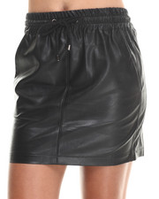 Women - Game Face Faux Leather Skirt