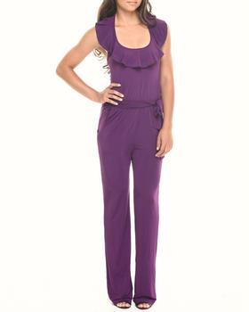 Fashion Lab - Knitted Halter Jumpsuit w/ Belt