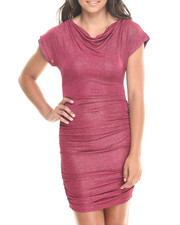 Women - Draped Top Fitted Bottom Dress