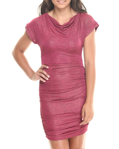 Fashion Lab - Women Pink Draped Top Fitted Bottom Dress