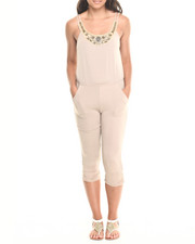 Women - Embellished Neckline Jumpsuit