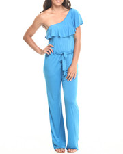 Women - Ruffle One Shoulder Jumpsuit