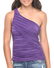 Fashion Lab - Ruched One Shoulder Top