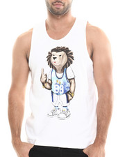 Shirts - Teddy Bear Graphic Terry Cloth Tank Top