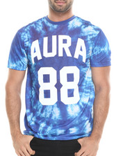 Shirts - Light Weight Jersey Aura Gold 88 Tie Dye Tee