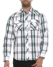 Men - White & Bright L/S Button Down Shirt