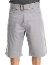 Men - Denim Shorts with Belt