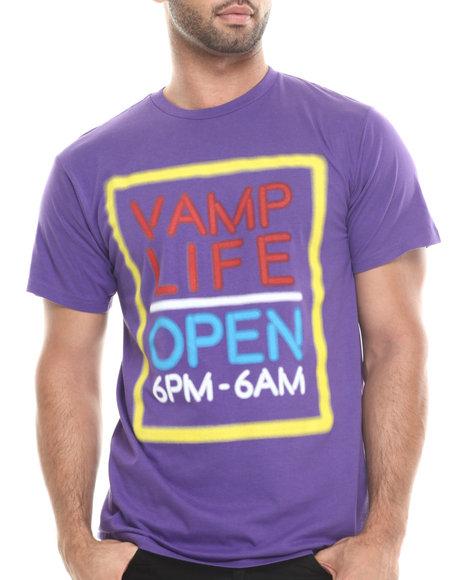 Vampire Life - Men Purple Vamp Life 6Pm T-Shirt