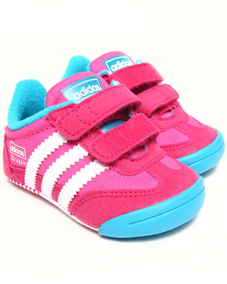 Adidas - Girls Pink Learn2walk Dragon Cmf Inf Crib Booties (Infant)