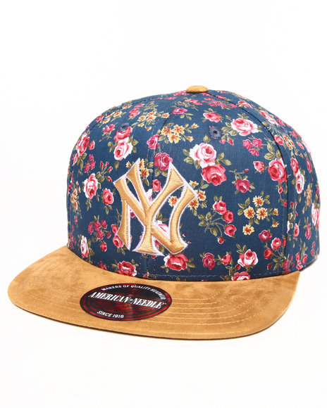 American Needle Men New York Yankees Off The Vine Strapback Hat (Faux Multi