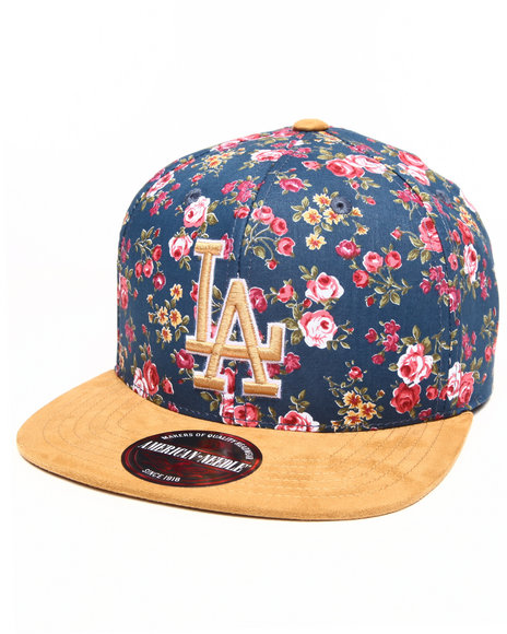 American Needle Men Los Angeles Dodgers Off The Vine Strapback Hat Multi