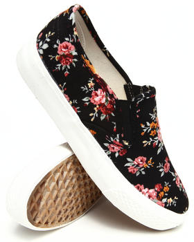 Fashion Lab - Tesla Floral Print Slip On Sneaker