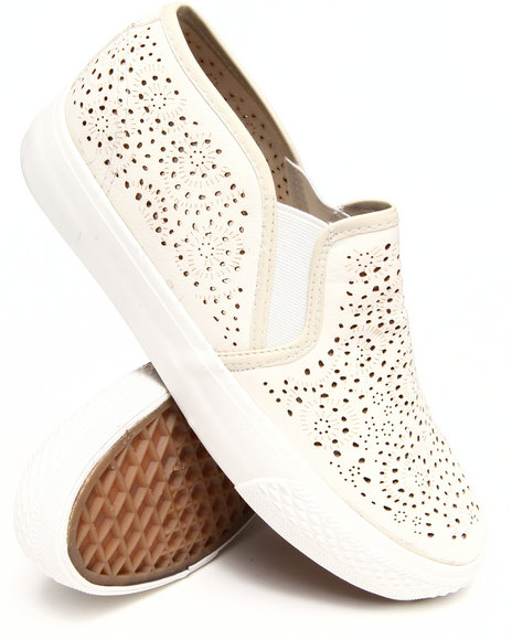 Fashion Lab - Women White Alala Detailed Slip On Sneakers