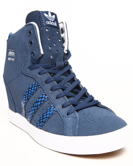 Adidas Navy Basket Profi Up Wedge Sneakers