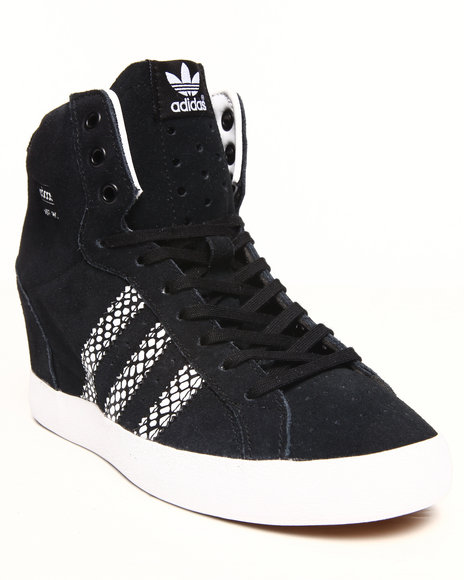 Adidas - Women Animal Print,Black Basket Profi Up Wedge Sneakers