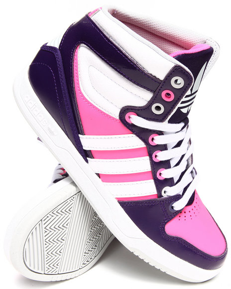 Adidas - Women Pink,Purple Court Attitude Sneakers