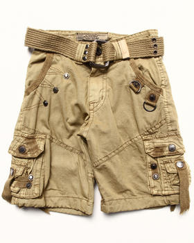 Arcade Styles - BELTED CARGO SHORTS (2T-4T)
