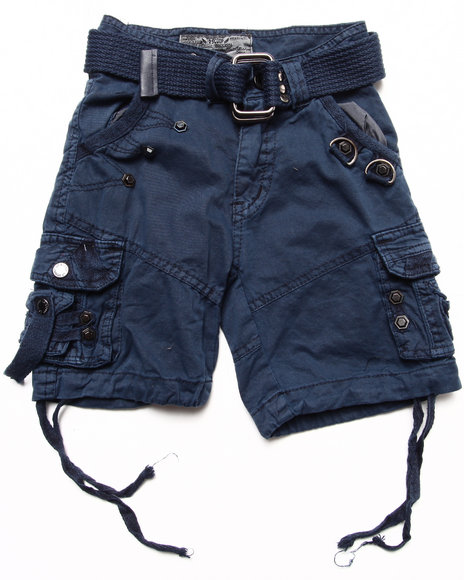 Arcade Styles Boys Navy Belted Cargo Shorts (2T-4T)