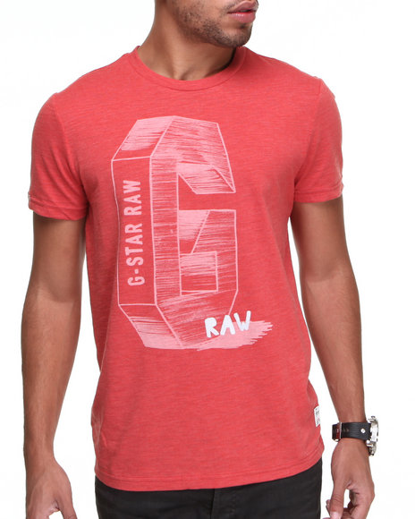 Djp Outlet Men G-Star Cosmos S/S Tee Red X-Large