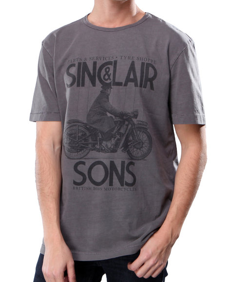 Ur-ID 222891 DJP OUTLET - Men Grey Eight Penny Nails Sinclair Tee
