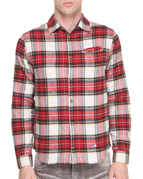 DJP OUTLET - Mark Jonster Polyester Lined Brushed Flannel Shirt
