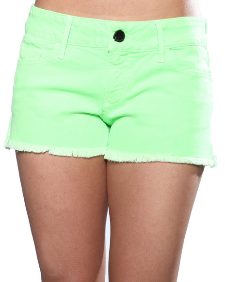 Djp Outlet Women Black Orchid Black Star Neon Cut Off Short Green 30