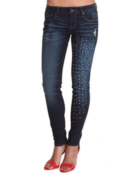 DJP OUTLET - Cult of Individuality Flag Stitching Zen Slim Curvy Jeans