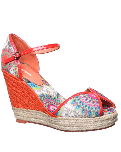 Djp Outlet Women Desigual Lara Espadrille Sandal Orange 10