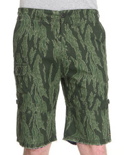 10 Deep - Convertible Green Tiger Stripe Short w/ Chambray Cuff