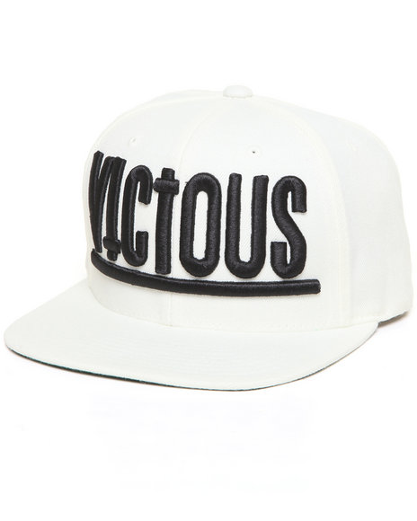 Civil Vicious Snapback Hat White