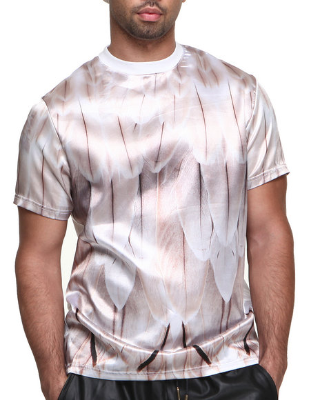 Dnine Reserve - Men White Satin Panel Immaculate Vision Tee