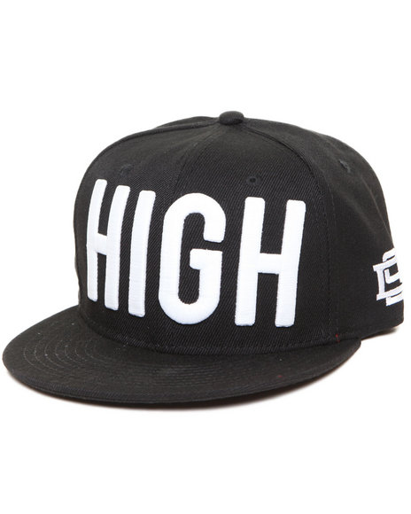 Dnine Reserve High Snapback Hat Black